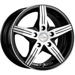 Купить RW (RACING WHEELS) H-458 BK/FP R14 W6 PCD4x98 ET38 DIA58.6