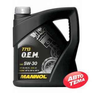 Купить Моторное масло MANNOL O.E.M. 7713 For Hyndai Kia (4л)