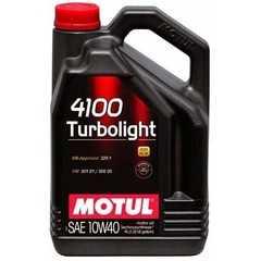 Моторное масло MOTUL 4100 Turbolight - Интернет магазин резины и автотоваров Autotema.ua