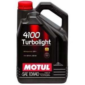 Купить Моторное масло MOTUL 4100 Turbolight 10W-40 (4л)