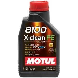 Купить Моторное масло MOTUL 8100 X-clean FE 5W-30 (1л)