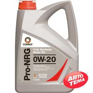 Купить Моторное масло COMMA PRO-NRG 0W-20 API SN (4л)