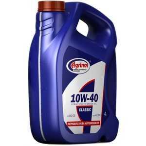 Купить Трансмиссионное масло AGRINOL Classic 10W-40 SG/CD (4л)