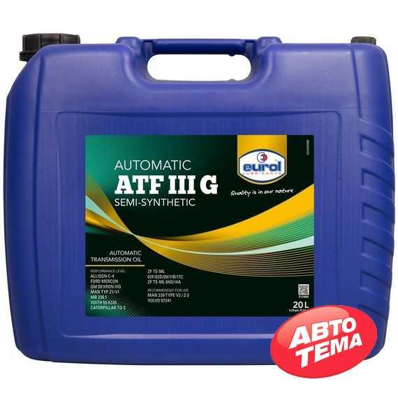 Купить Трансмиссионное масло EUROL ATF III G (20л)