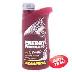Моторное масло MANNOL Energy Formula PD - Интернет магазин резины и автотоваров Autotema.ua