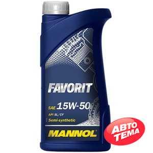 Купить Моторное масло MANNOL Favorit 15W-50 (1л)