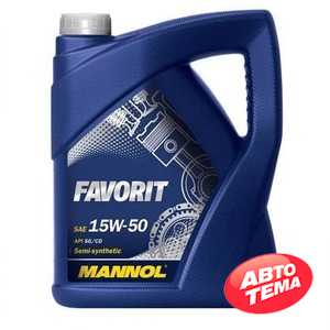 Купить Моторное масло MANNOL Favorit 15W-50 (5л)