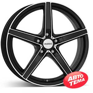 Купить DEZENT RN dark BASE Black/polished R18 W8 PCD5x114.3 ET40 DIA71.6
