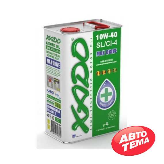 Купить Моторное масло XADO Atomic Oil 10W-40 SL/CI-4 (4л)