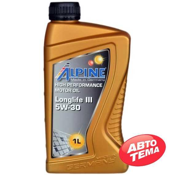Моторное масло ALPINE Longlife III - Интернет магазин резины и автотоваров Autotema.ua