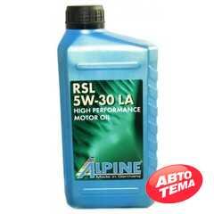 Купить Моторное масло ALPINE RSL 5W-30 LA SN/CF (1л)