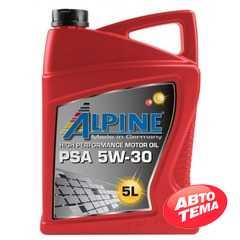 Моторное масло ALPINE PSA - Интернет магазин резины и автотоваров Autotema.ua