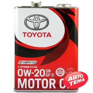 Купить Моторное масло TOYOTA MOTOR OIL 0W-20 SN/GF-5 (4л)