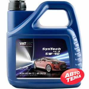 Купить Моторное масло VATOIL SynTech LL-X 5W-40 (4л)