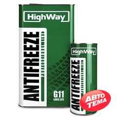 Купить Антифриз HIGHWAY Antifreeze -40 Long Life G11 зеленый (1л)