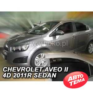 Купить Дефлектор HEKO CHEVROLET AVEO 4D SEDAN ( Plus OT) 2011R.→ 4шт. 10536