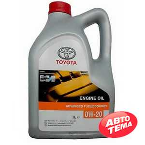 Купить Моторное масло TOYOTA MOTOR OIL SN 0W-20 (5л)