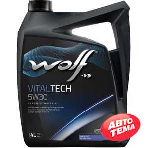 Купить Моторное масло WOLF VitalTech 5W-30 (4л)