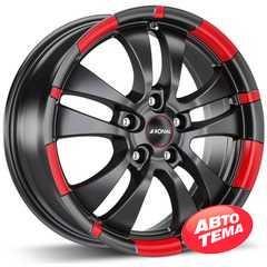 Легковой диск RONAL R59 Jet Black-matt-red rim - Интернет магазин резины и автотоваров Autotema.ua