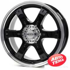 Легковой диск DOTZ Daytona Black - Интернет магазин резины и автотоваров Autotema.ua