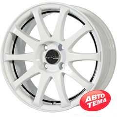Легковой диск PDW Race-Tek Gloss White Undercut Black Line - Интернет магазин резины и автотоваров Autotema.ua