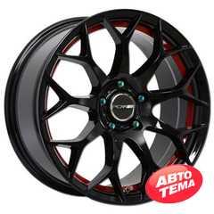 Легковой диск PDW Scorpio Black Machine Face With Red Under Cut - Интернет магазин резины и автотоваров Autotema.ua