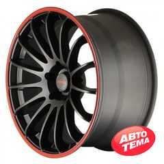 Легковой диск TENZO RACING Cuzco Matte Black w/Red Stripe - Интернет магазин резины и автотоваров Autotema.ua