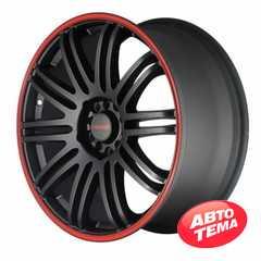 Легковой диск TENZO RACING TenSpec Matte Black w/Red Stripe - Интернет магазин резины и автотоваров Autotema.ua