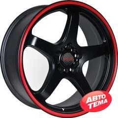 Легковой диск TENZO RACING Tracer V1 Matte Black w/Red Stripe - Интернет магазин резины и автотоваров Autotema.ua