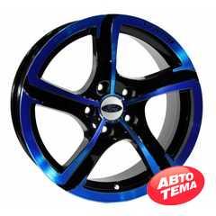 Легковой диск PDW Halo Black With Blue Cover - Интернет магазин резины и автотоваров Autotema.ua