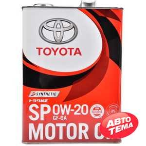 Купить Моторное масло TOYOTA Synthetic Motor Oil 0W-20 SP/GF6A (4л)