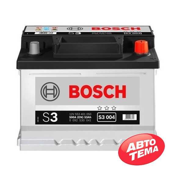 Купить Аккумулятор BOSCH (S3004) 53Ah-12v (242x175x175) R,EN 500