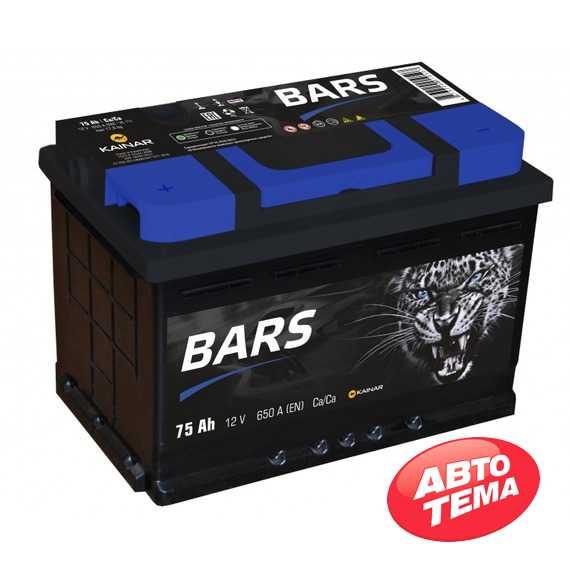 Купить Аккумулятор BARS 6СТ-75 L Plus (пт 650)