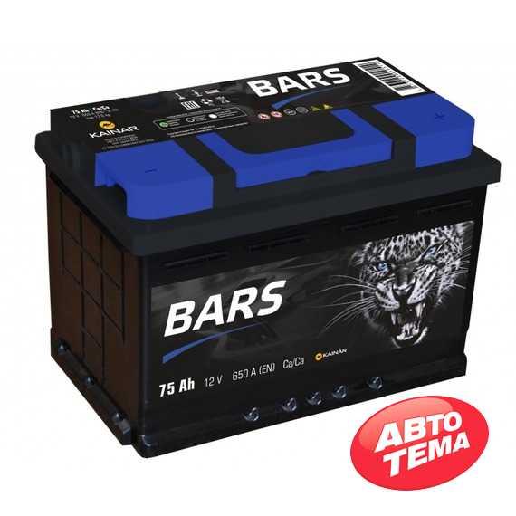 Купить Аккумулятор BARS 6СТ-75 R Plus (пт 650)