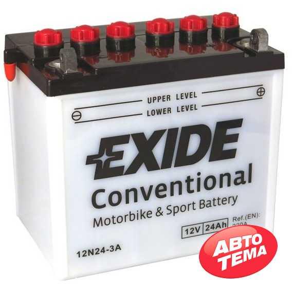 Купить Аккумулятор EXIDE (12N24-3A) 24Ah-12v (184х124х175) R, EN220