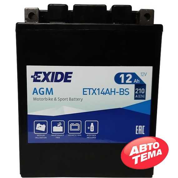 Купить Аккумулятор EXIDE AGM (ETX14AH-BS) 12Ah-12v (134х89х164) L, EN210