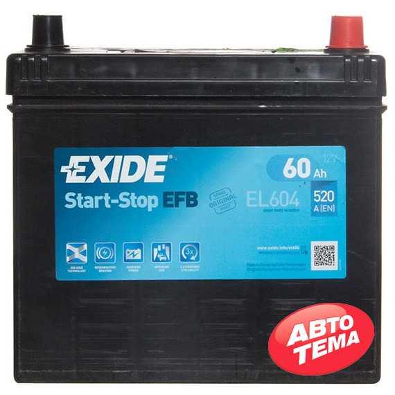Купить Аккумулятор EXIDE START-STOP EFB 60Ah-12v (230х173х222),R,EN520